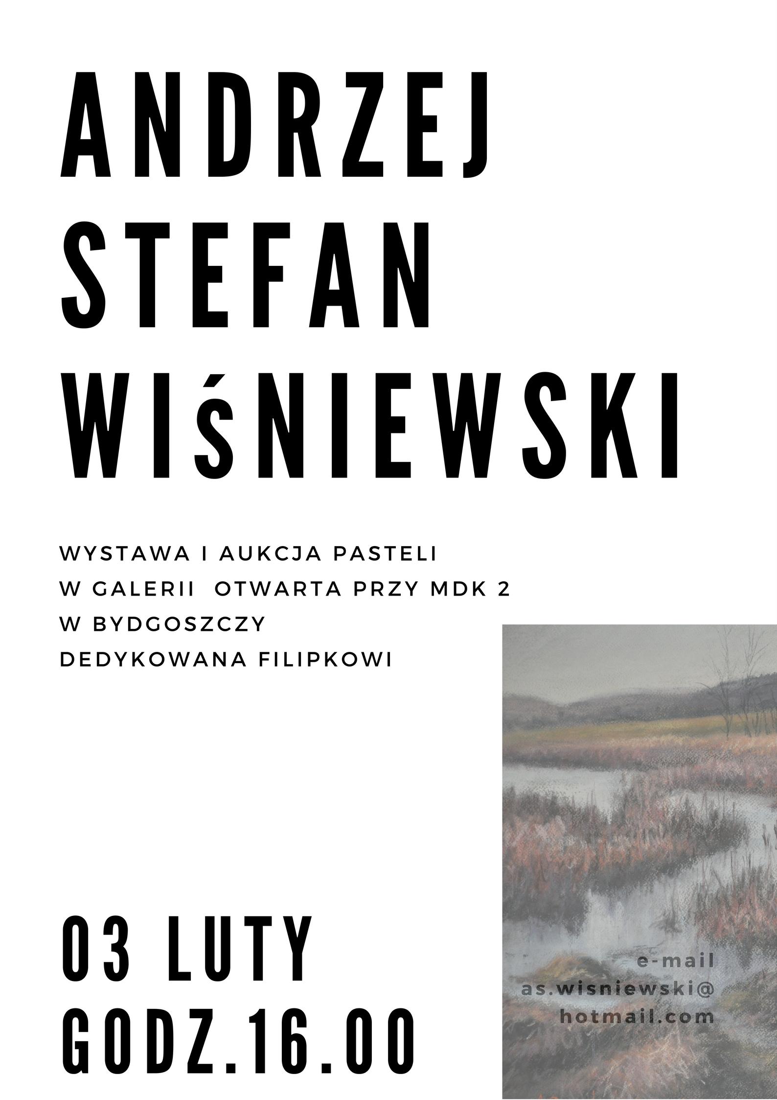 Plakat - Andrzej Stefan Wiśniewski wystawa pasteli